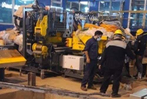 افزایش ظرفیت تولید ریل ذوبآهن اصفهان با نصب دستگاه اره و دریل جدید