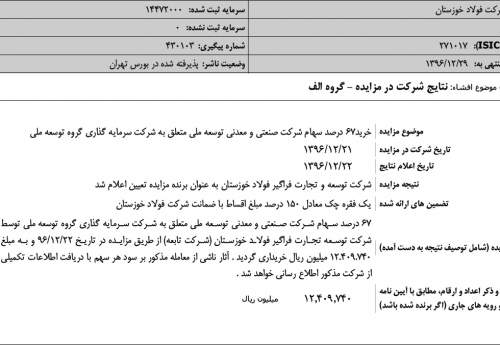 کشانی به وعده خود عمل کرد/ زنجیره تولید فولاد خوزستان با خرید سهام کنسانتره سازی توسعه ملی تکمیل شد