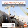 مشاهده کنید: جهش صادرات فولاد ایران/ کارنامه صادرات فولاد کشور در نیمه نخست ۱۴۰۰
